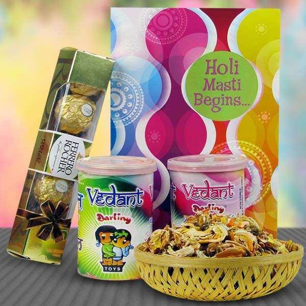 Herbal Gulal & Chocolates Hamper