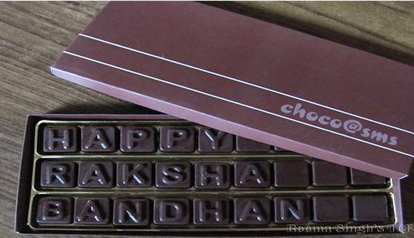 Personalized message on chocolates